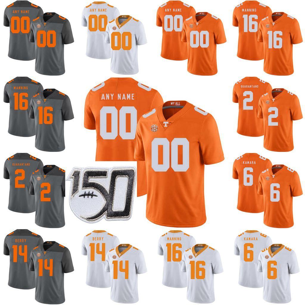 Tennessee Volunteers College Football Jerseys Peyton Manning Jersey Jason Witten Eric Berry Alvin Kamara Jarrett Guarantano Custom Stitched