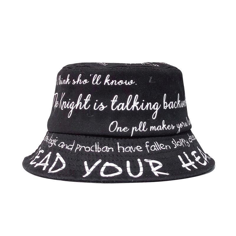 Cotton Letter Bucket Hat Fisherman Hat outdoor travel hat Sun Cap Hats for Children boys and girls 88