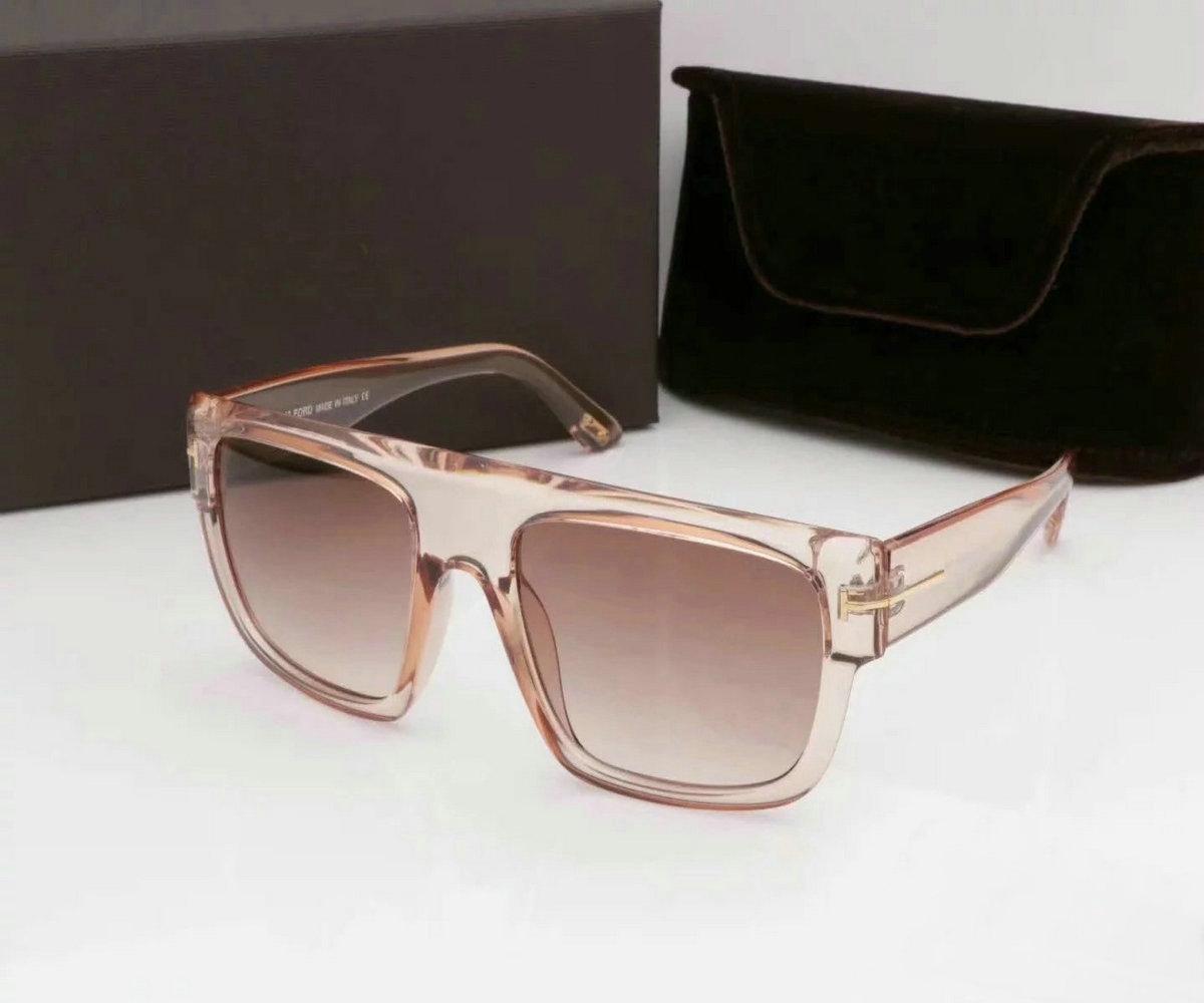 Atacado-verão óculos de sol de marca de estilo de tom meio frame mulheres homens grife uv sol óculos de lente clara e revestimento caixa sunwear lente # 896