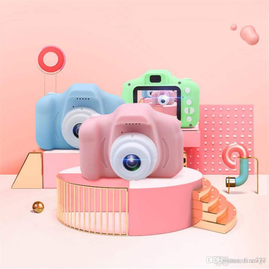 2 pulgadas de pantalla HD mini cámara digital recargable para niños de dibujos animados lindos juguetes de cámara accesorios de fotografía al aire libre para regalo de cumpleaños infantil