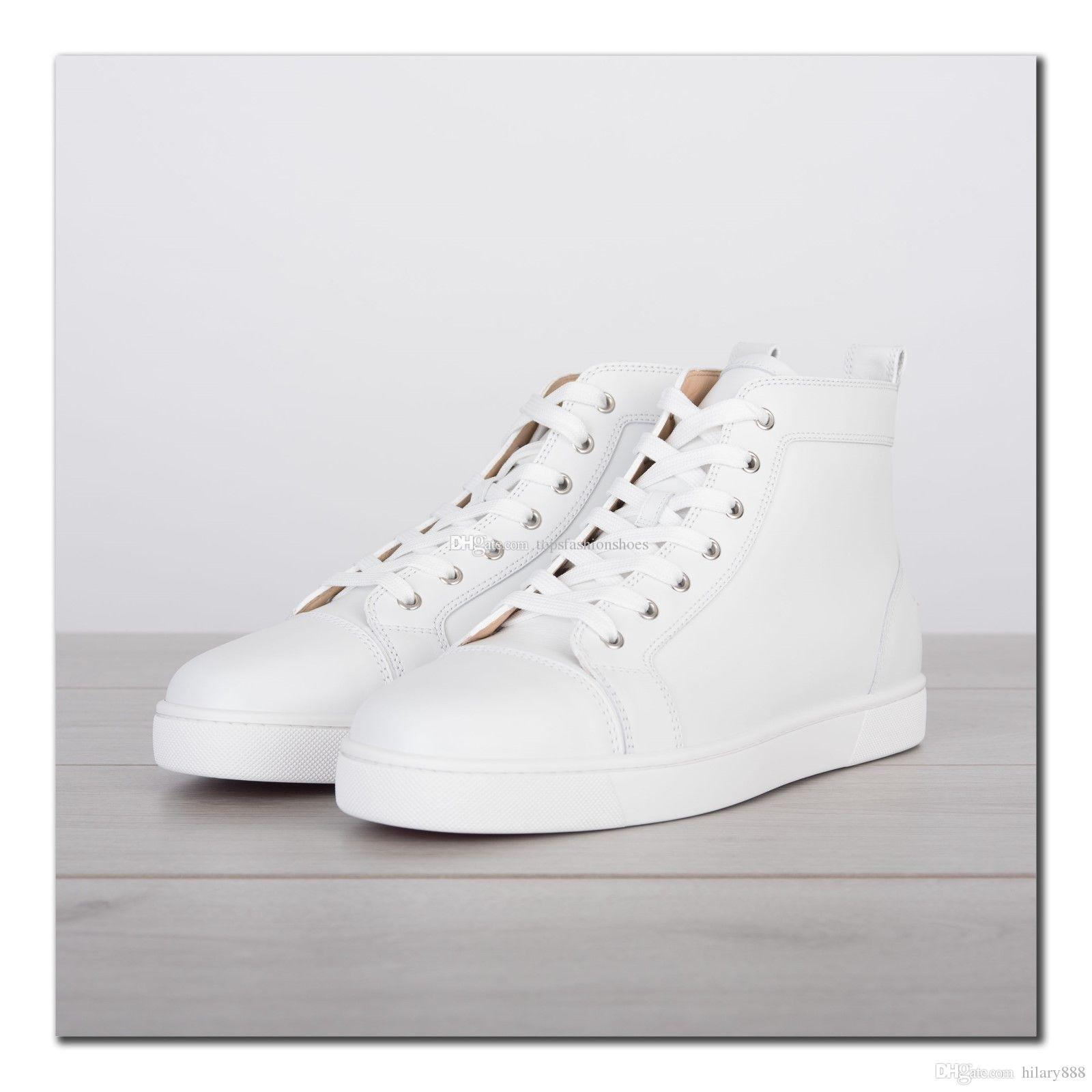 White Genuine Leather Sneakers Shoes