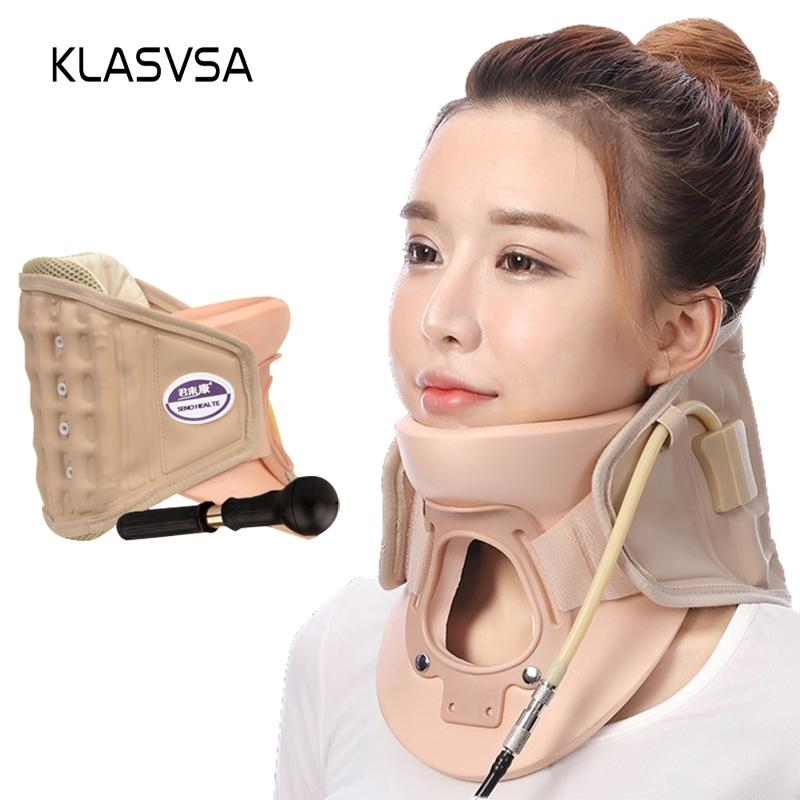 wholesale Inflatable Cervical Neck Traction Massager Therapy Device Adjustable Neck Stretcher Collar Spine Health Care Relaxation
