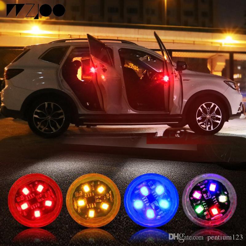 5 LEDs Evrensel Araba Kapı Açılış Uyarı Işıkları Kablosuz Manyetik Indüksiyon Strobe Yanıp Sönen Anti-end Çarpışma Güvenlik Lambaları