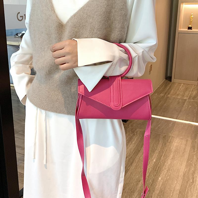 Wholesale new net red Susu bag in autumn and winter 2019 with candy color ring handbag one shoulder slant span bag small