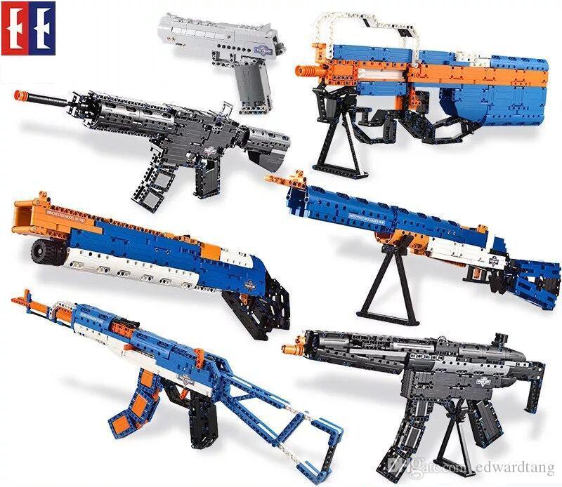 "SY طفل بناء كتل نموذج البنادق، AK، M4 بندقية، DIY التنموية لعب والسلامة غير مؤذية، لحزب كيد عيد الميلاد عيد الميلاد ""هدايا"