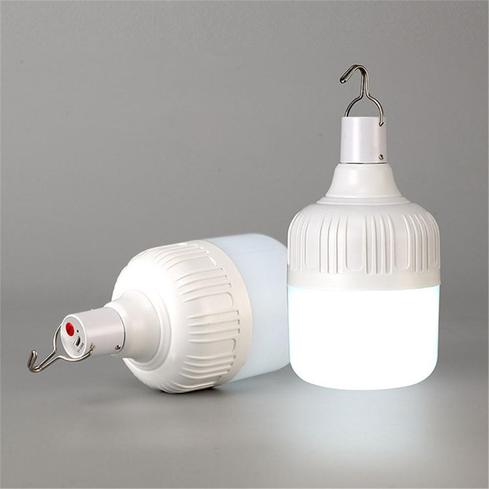 USB 재충전용 전구 옥외 야영 5 모델 디 밍이 가능한 휴대용 등불 비상등 바베큐 거는 밤 빛