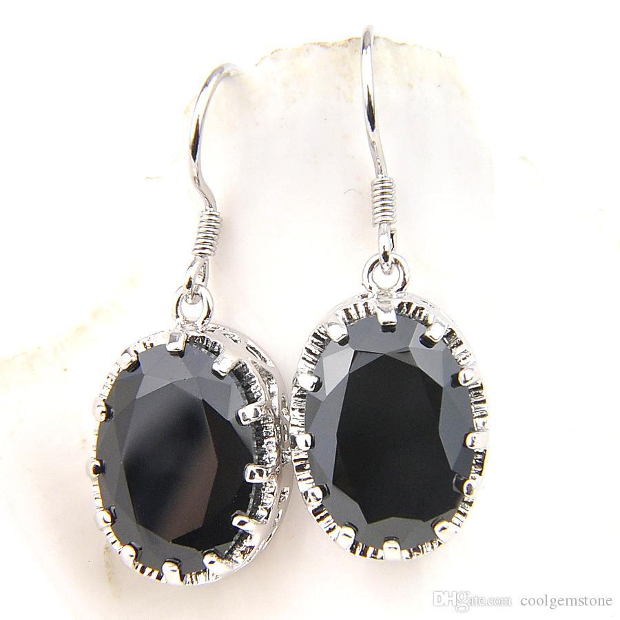 Black Onyx / 925 Sterling Silver Dangle Boucles d/'oreilles