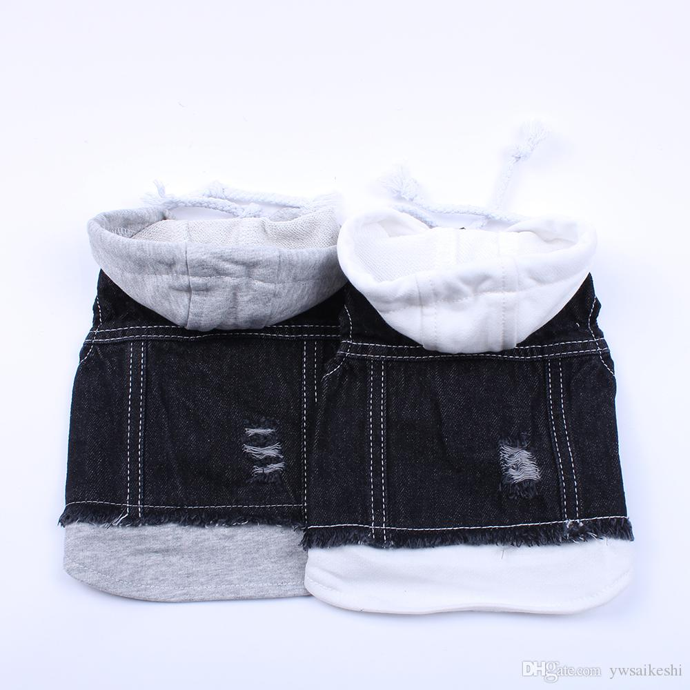 Pet Dog Jacket Casual Denim Vest Jeans Dog Coat Jacket Clothes Apparel For Small Pets Cats Puppy 6 Sizes