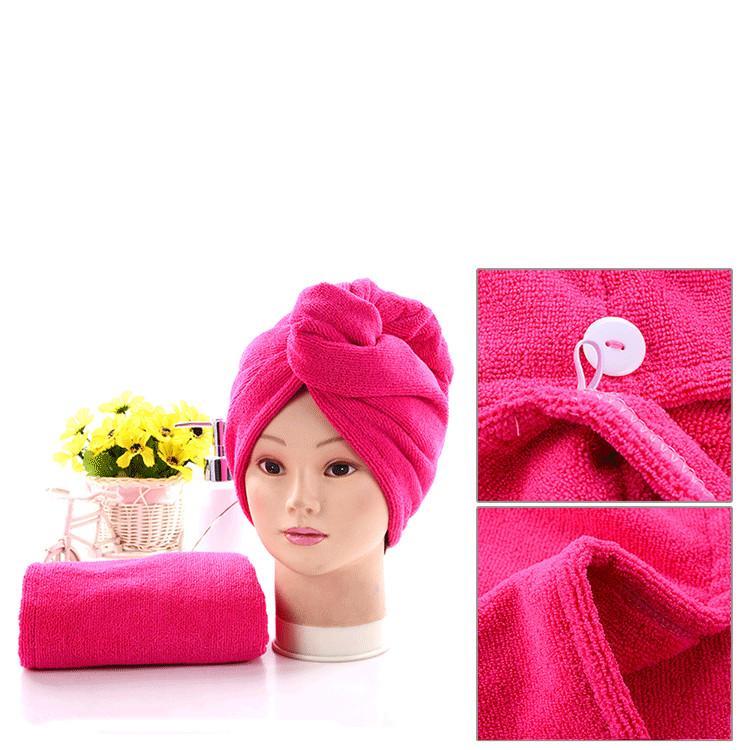 nuevos gorros de ducha para el copete de pelo mágico de secado rápido secado de microfibra toalla turbante Wrap Sombrero Caps Caps Spa Baño Baño Accesorios T2I5788