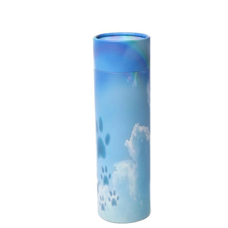 حسب الطلب خدمة العظمى الورق المقوى جامدة الطلاء الأزرق اسطوانة مربع التعبئة والتغليف