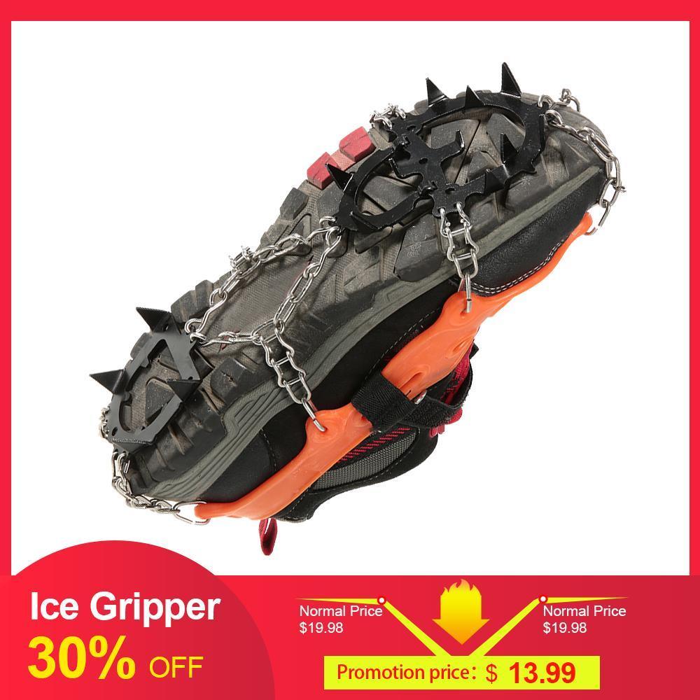 limbing Acessórios 2pcs Esportes de Inverno Anti-Slip Ice Gripper chuteiras sapatos Bota Grips Crampon Cadeia de Spike Neve Escalada de Natal Equipamento ...