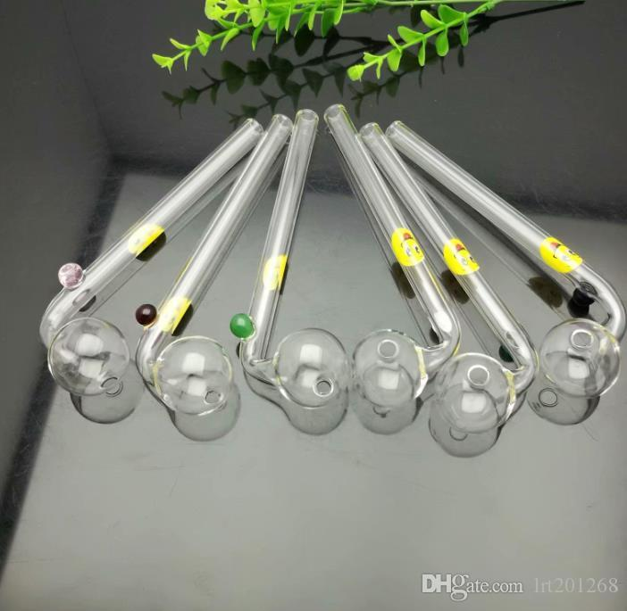 Impresso sorriso da cara longa Dobre pote de vidro Bongos de vidro cachimbo de água Rig Pipes Oil Gravar vidro Bowls Oil