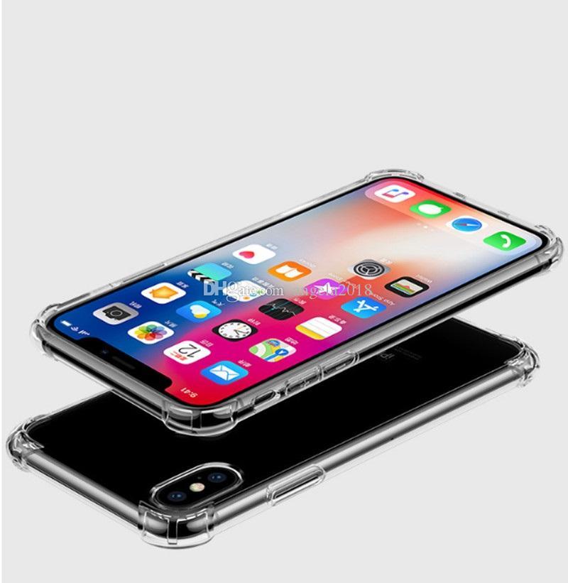 Caso di TPU nuovo ultra-sottile per iPhone XR XS MAX trasparenti in silicone morbido antiurto Casi trasparente per Samsung S8 S9 più