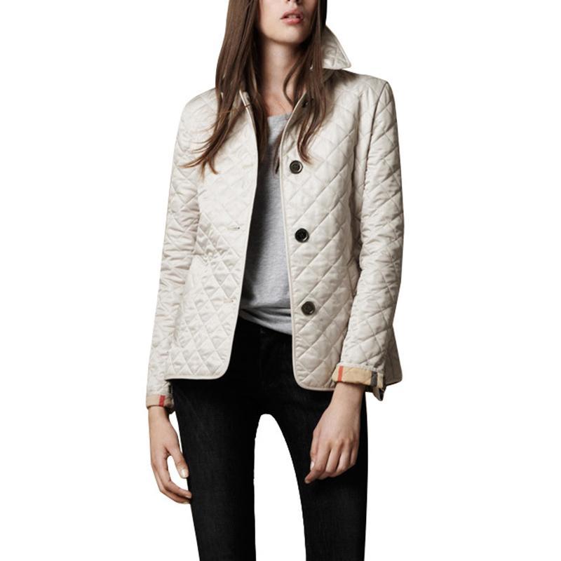2019 Herbst-Winter-Brand New European American Frauen-Mantel Eindickung Temperament Revers Einreiher warmen Jacken-Damen-Jacken