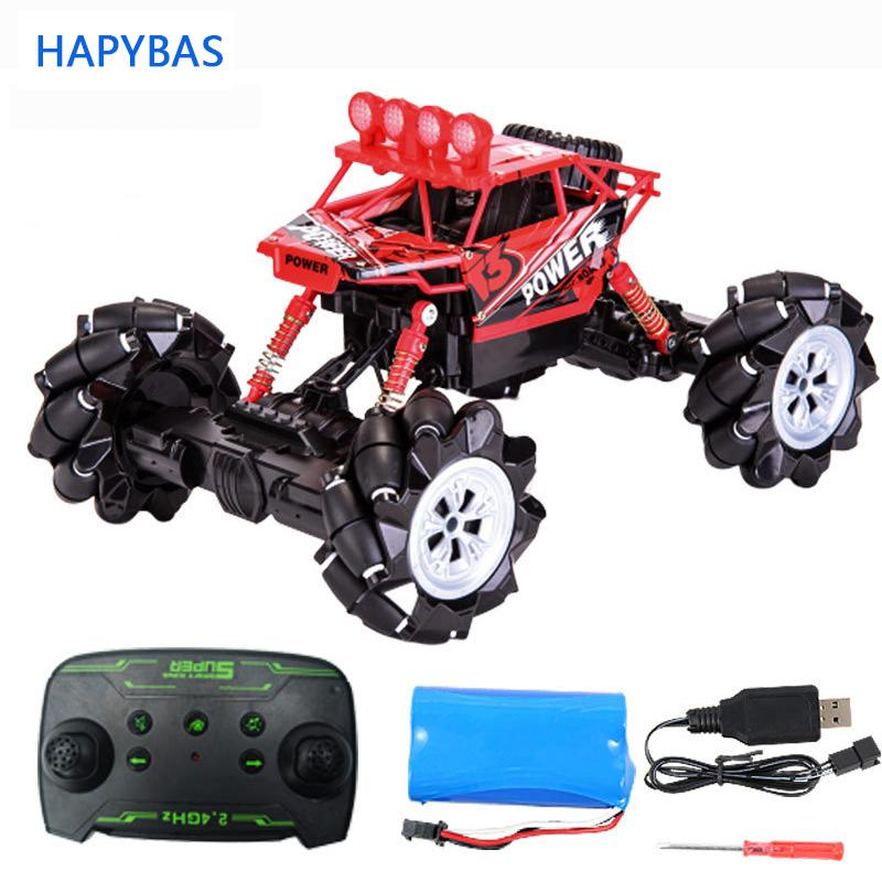 Four-wheel remote control car drive drift 2.4G stunt stucks dancing light music rc car off-road vehicle toy children's gift Y200428