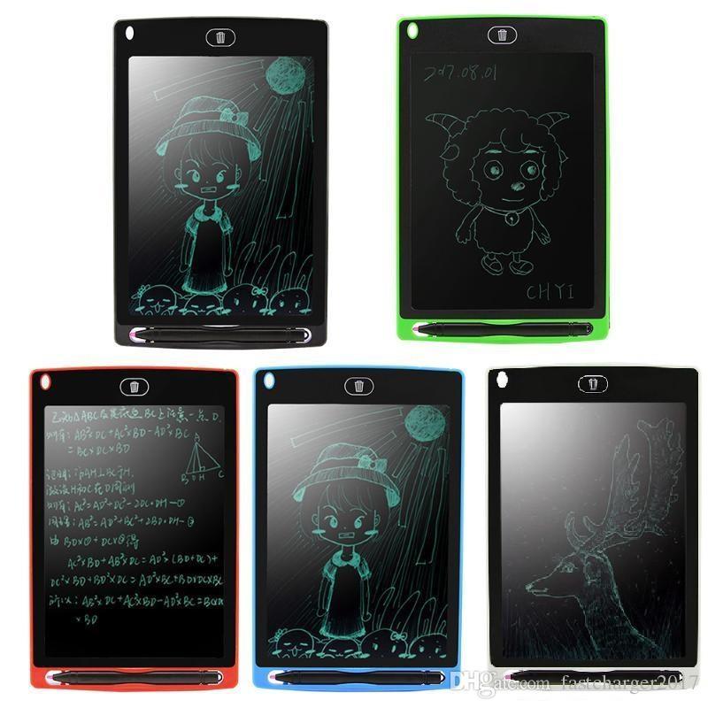 LCD Scrittura Tablet Disegno da 8,5 pollici Taccuino Memo Taccuino elettronico con penna DHL GRATIS