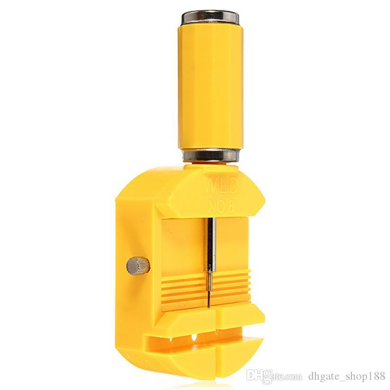 Tool Repair Tools Yellow 28mm Link per orologio per cinturino a fessura per cinturino per catena Kit per la riparazione del dispositivo di rimozione del perno della catena + 3 pezzi di ricambio