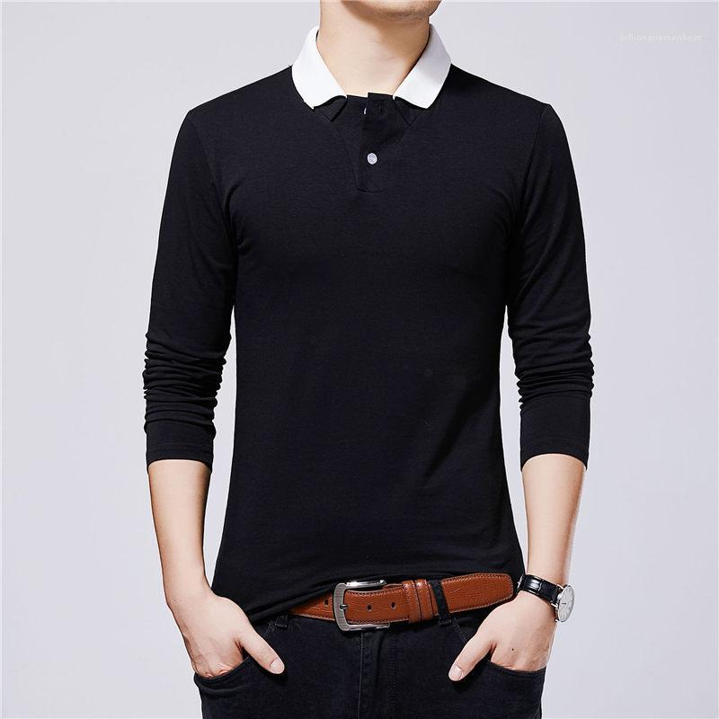 Manica Mens Plus Size Shirt Traspirante Maschio Popolare Casual Top Spting Autunno Mens Del Progettista Tshirt Lungo
