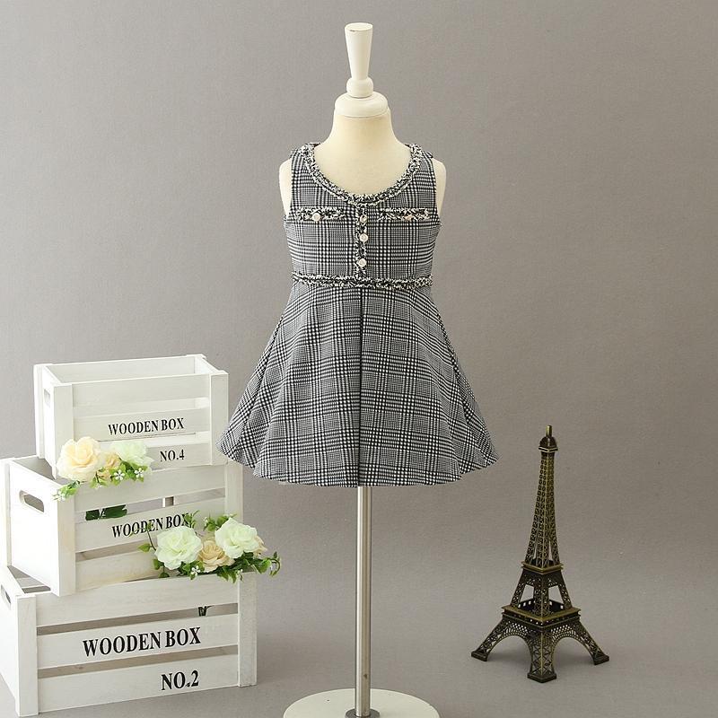 Girl's Dresses Baby Girl Dress Kids SleevelessDresses 2020 Designer Infant Princess Party Dress Children Boutique Clothing S760