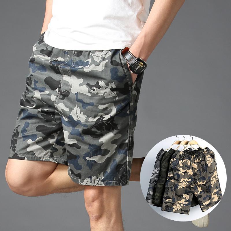 Coton Camouflage Shorts Vêtements pour hommes 2020 Work Out pour homme Shorts Homme Shorts droites Casual Male Grand Taille Pantalon court Y200519