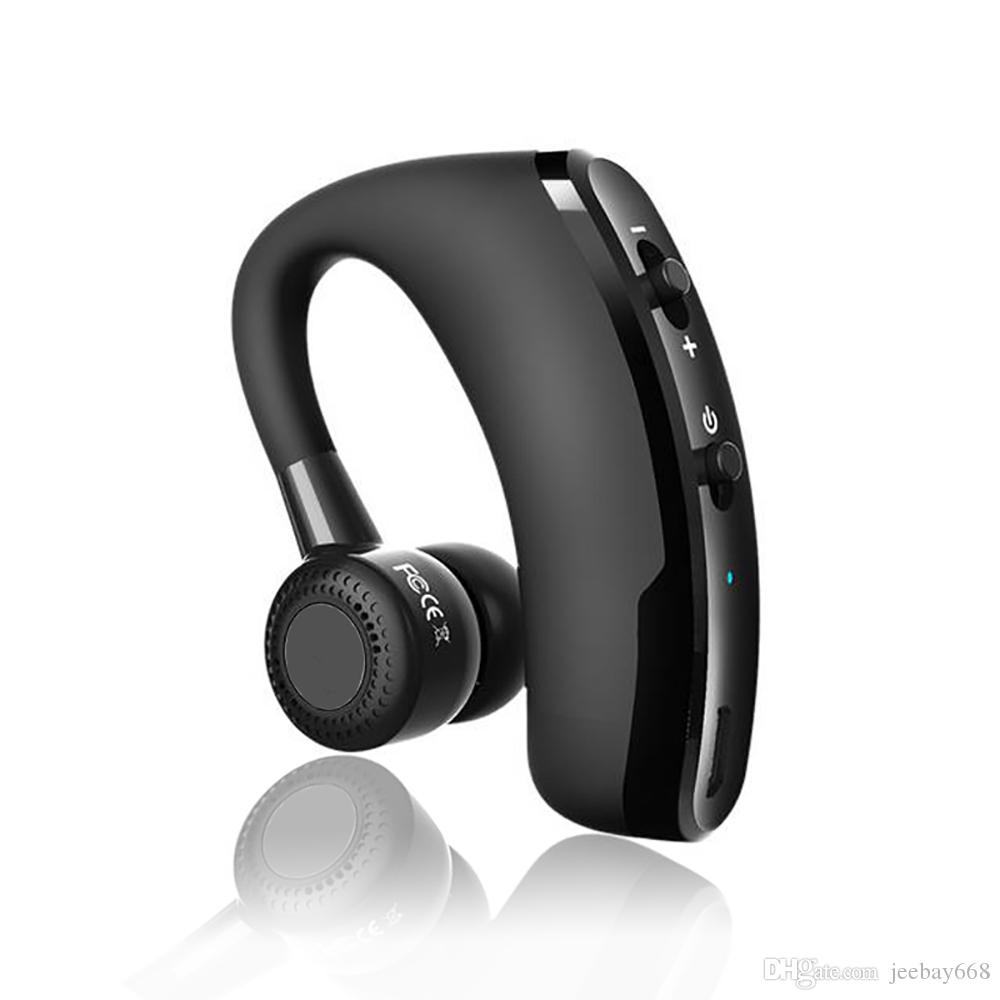 V9 Handsfree Wireless Bluetooth Earphones Ear Hook Noise Control Business Bluetooth Headset With Mic Earphone For All Mobile Phones With Iph Headset For Cell Phones Wireless Cell Phone Headphones From Jeebay668 9 47