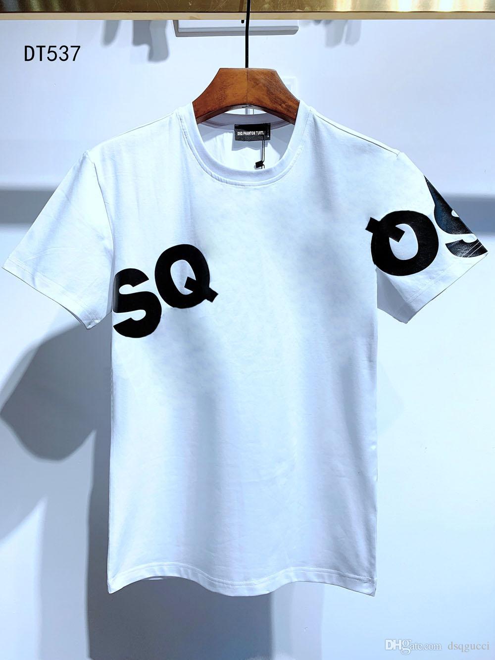 DSQ Mens Designer T Shirt Black White Men Estate Moda Casual Street T-Shirt Top Manica corta Euro Taglia M-XXXL 6872