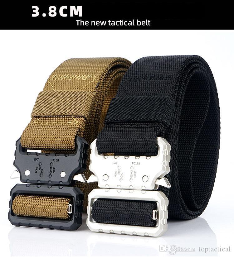 Four Men Belt Outdoor Tactical Belt Military Camouflage Nylon Belts Student Training Outer Belt