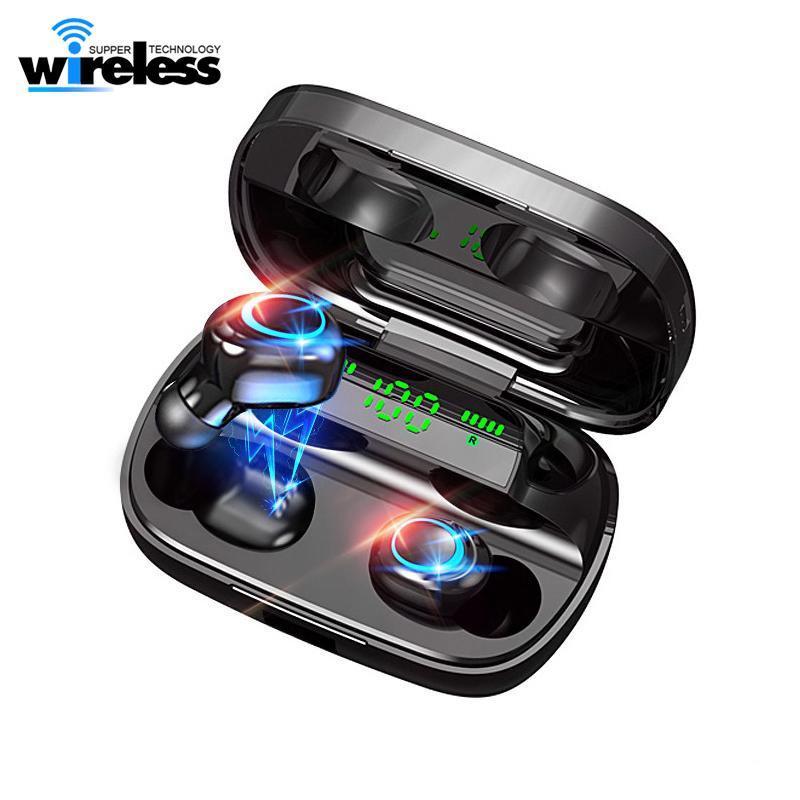 전원 은행 이어폰 헤드폰 S11-A 새로운 블루투스 무선 TWS 5.0 이어폰 8D 스테레오 무선 이어폰 미니 무선 이어폰 헤드셋