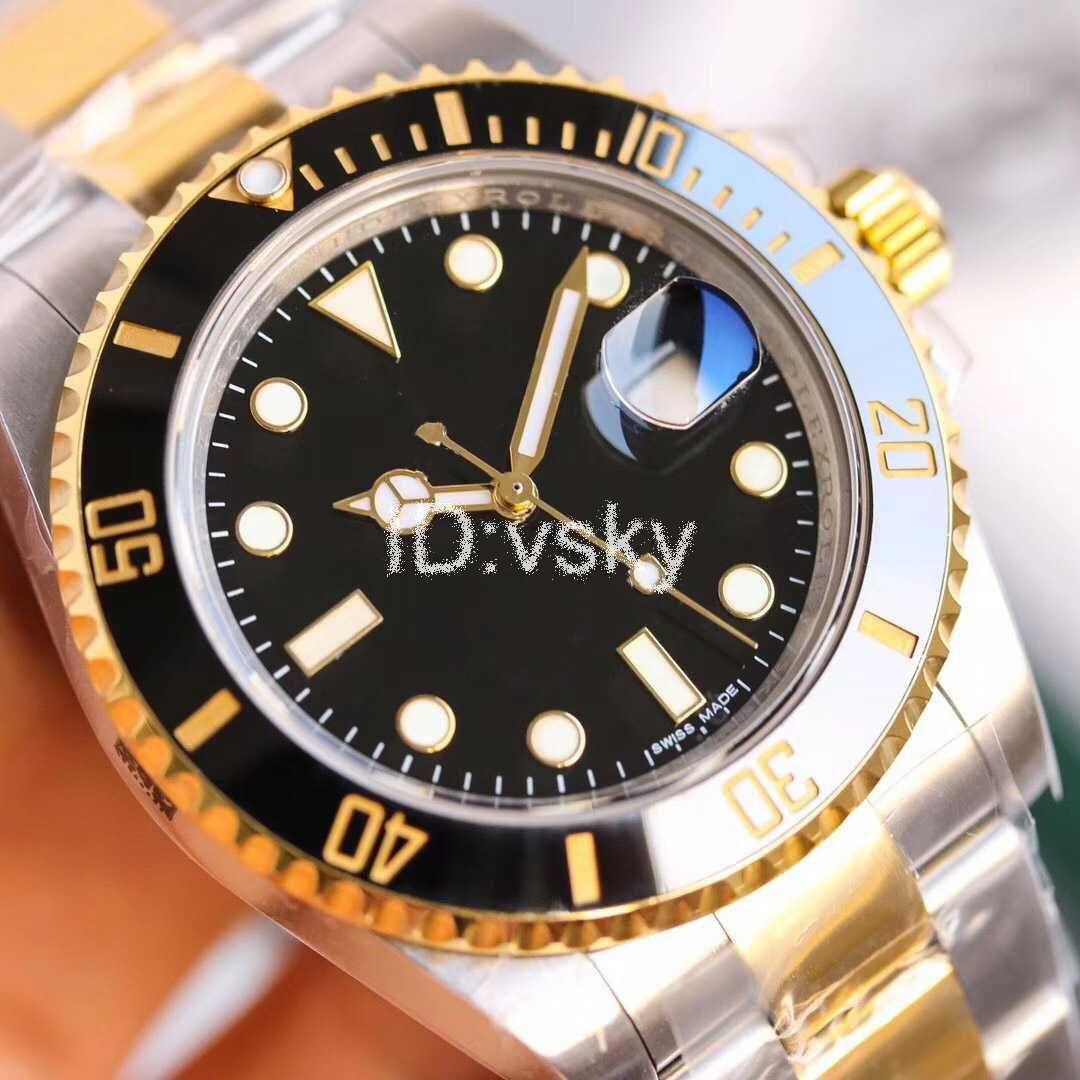 Luxus Herrenuhr Automatik Uhr 116710 Schwarz Blau Keramik-Lünette-Uhr-Edelstahl-Haken-Herrenmode-Master Uhren Armbanduhr
