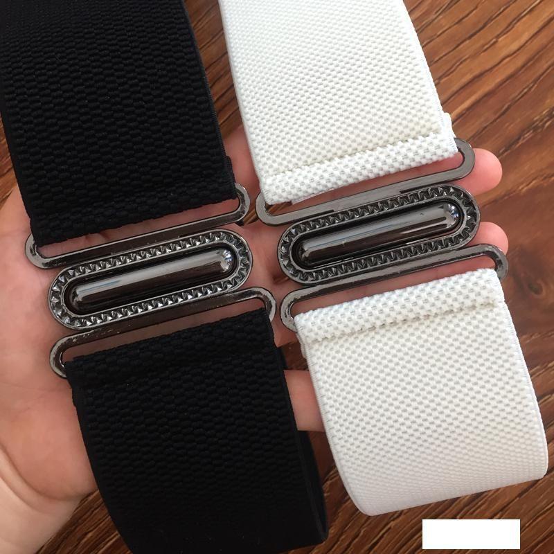 IFENDEI largos cintos para mulheres 6cm Branco cinta elástica para o vestido ajustável Red Cummerbunds Saias Black Party cós largo