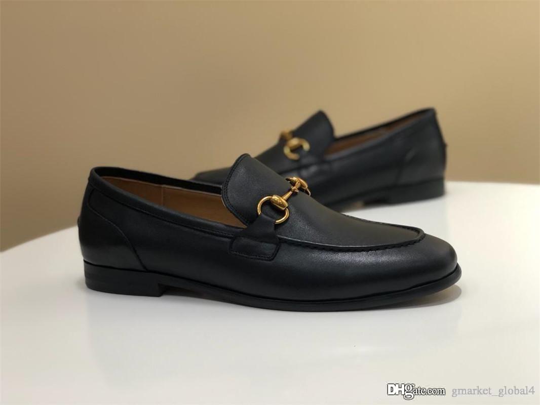 Nouveau designer De Luxe Chaussures Jordaan en cuir mocassins 406994 BLM00 1000 hommes d'affaires Décontractée Chaussures Top qualité
