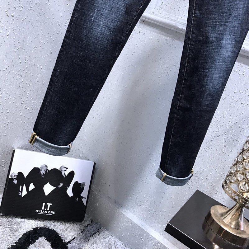 джинсы новые высокое качество мужчины 2020 осенняя мода мужчины джинсовые брюки повседневные брюки ZQVT