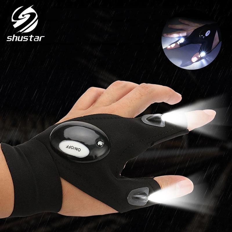 LED Bicycle Light Gloves light Waterproof Finger lamp Flash Riding Fishing walking Rescue illumination outdoor equipment