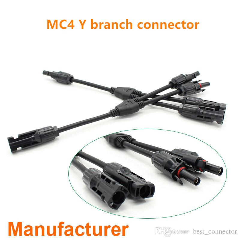 HOT 1Pair Y//T Type Branch MC4 Connector Solar Panel Cable Adapter solar B$CA