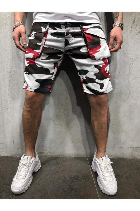 Shorts Sommer Designer Hombres Pantalones Taschen-Shorts Herren Camouflage Fracht