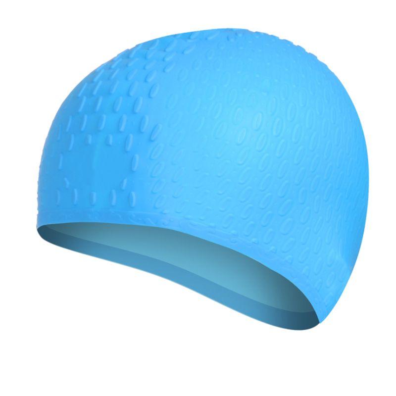 1 Pieza Hombres Mujeres Natación elástico de silicona Caps Señora de la nadada piscina Cap Adult Swim sombrero impermeable de pelo largo