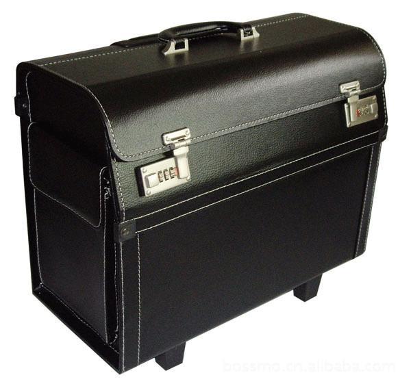 Volo trolley assistenti di volo scatola di cuoio uomini e donne d'affari piloti capitano di bordo telaio 18/19 documenti di viaggio pollici