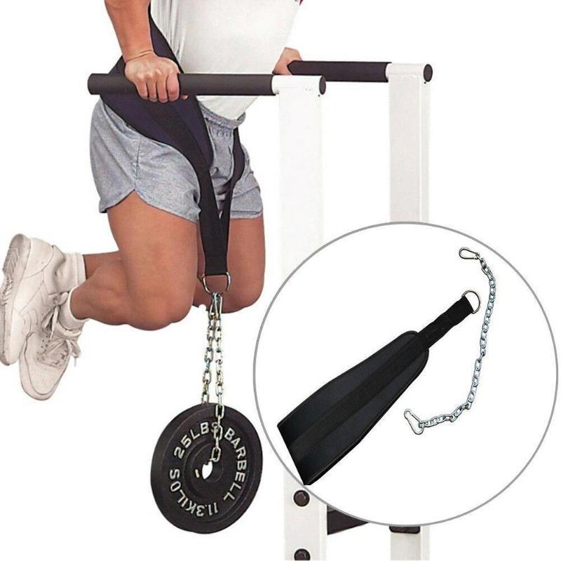 Sollevamento pesi Dip sport della cinghia della vita Forza Pull Fitness Training Power Up Catena