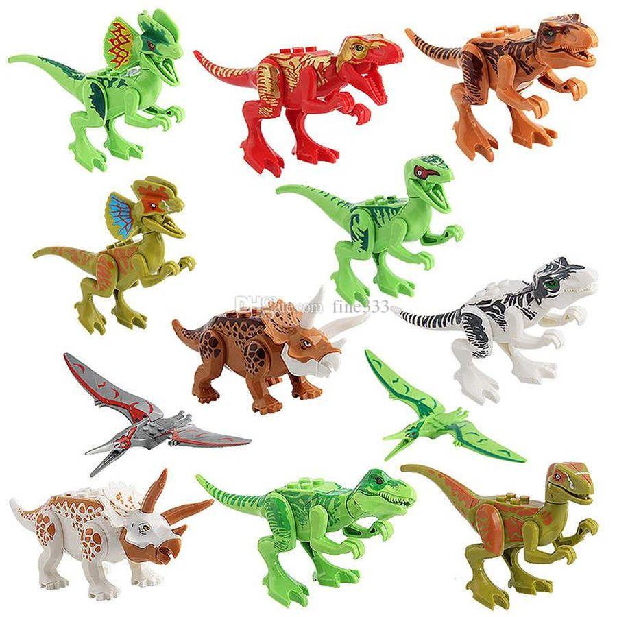 كتلة اللغز الجوراسي ديناصور abs minifig تحصيل نموذج التجزئة عمل أرقام lol ديي لعبة كتل minifig