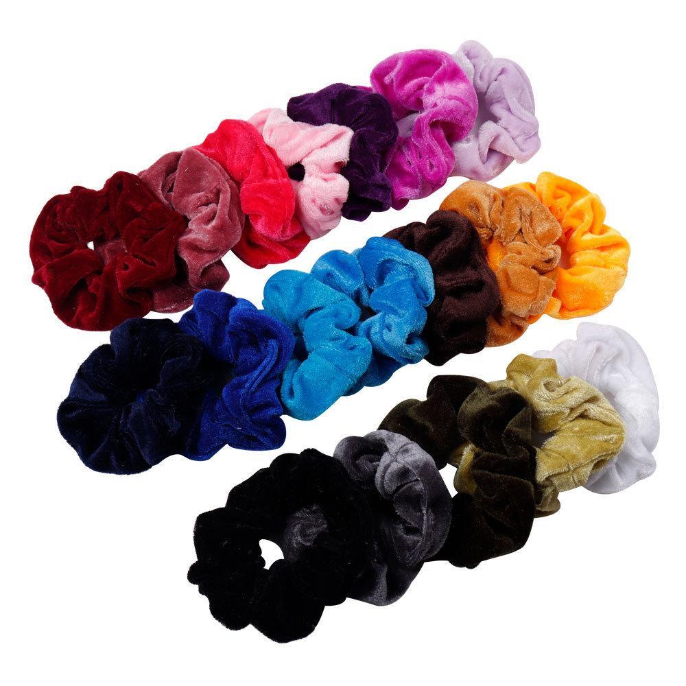 Женщины бархат твердые эластичные резинки для волос хвост держатель резинки галстук резинка оголовье резинка для волос аксессуары для волос