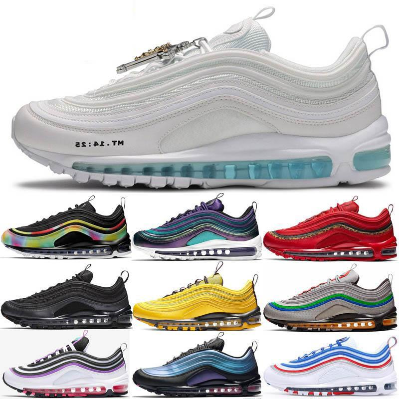 Air Max 97 2020 MSCHF X INRI Gesù 97 Proiettile Olimpiadi Mens Running Shoes South Beach velluto a coste Confezione Sean Wotherspoon palestra Red 97s Donne Sport Sneakers Trainer