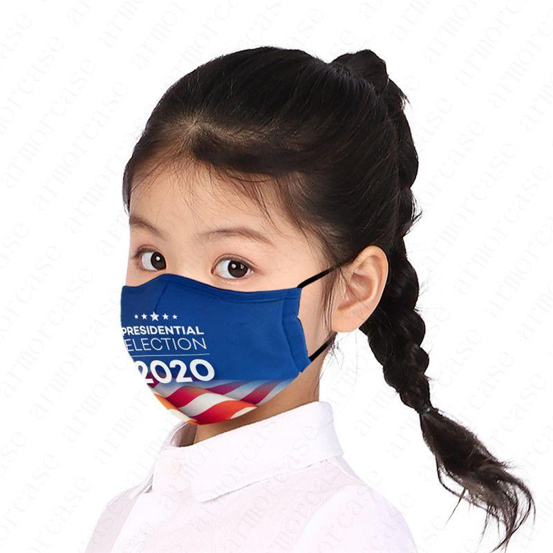 Мальчики Face Mask Президент США Дизайнеры Письмо Printed Дети Дети Маски Trump 2020 Флаг Пыль и туман РМ2,5 моющихся Маски D52810