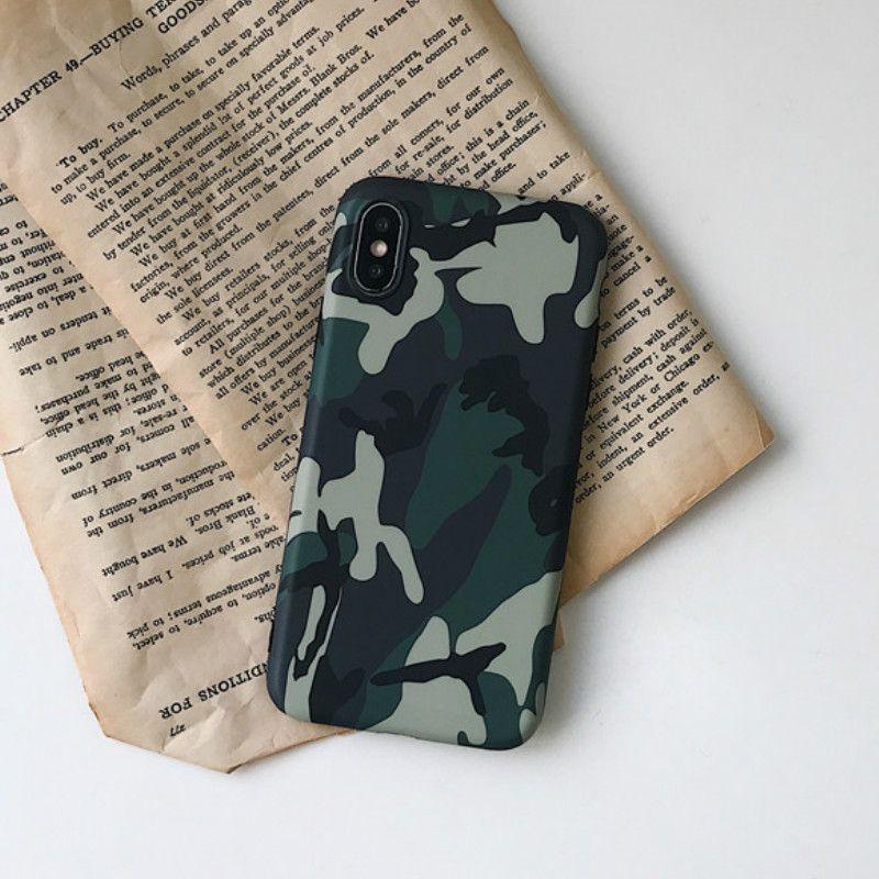 Охладить армии Ca Камуфляж телефона Чехлы для IPhone 11 Pro Max X XS XS XR Max 6 6S 7 8 Plus X Мода Army Green Soft ТП чехол