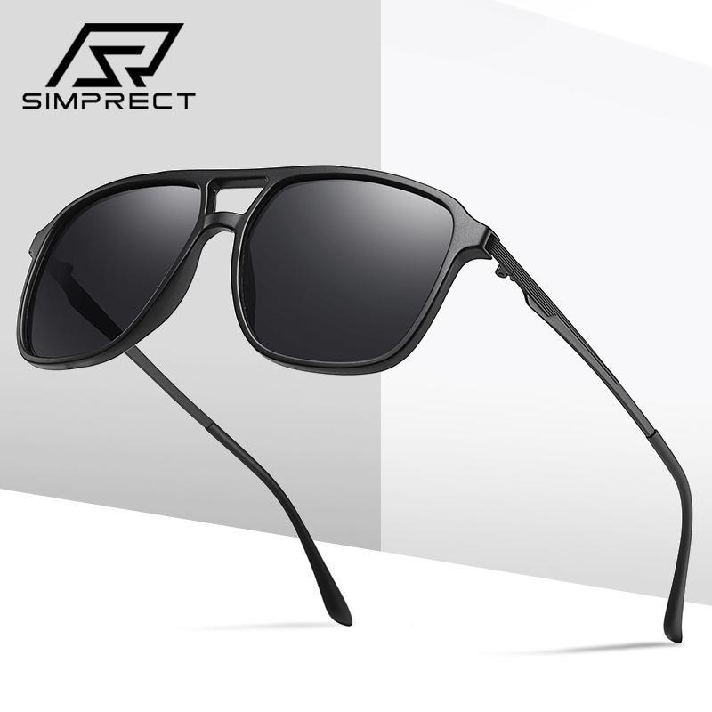 SIMPRECT de 2020 TR90 gafas de sol polarizadas de los hombres Marca conductor Gafas de sol Vintage Plaza UV400 antideslumbrante Gafas de sol para los hombres Oculos