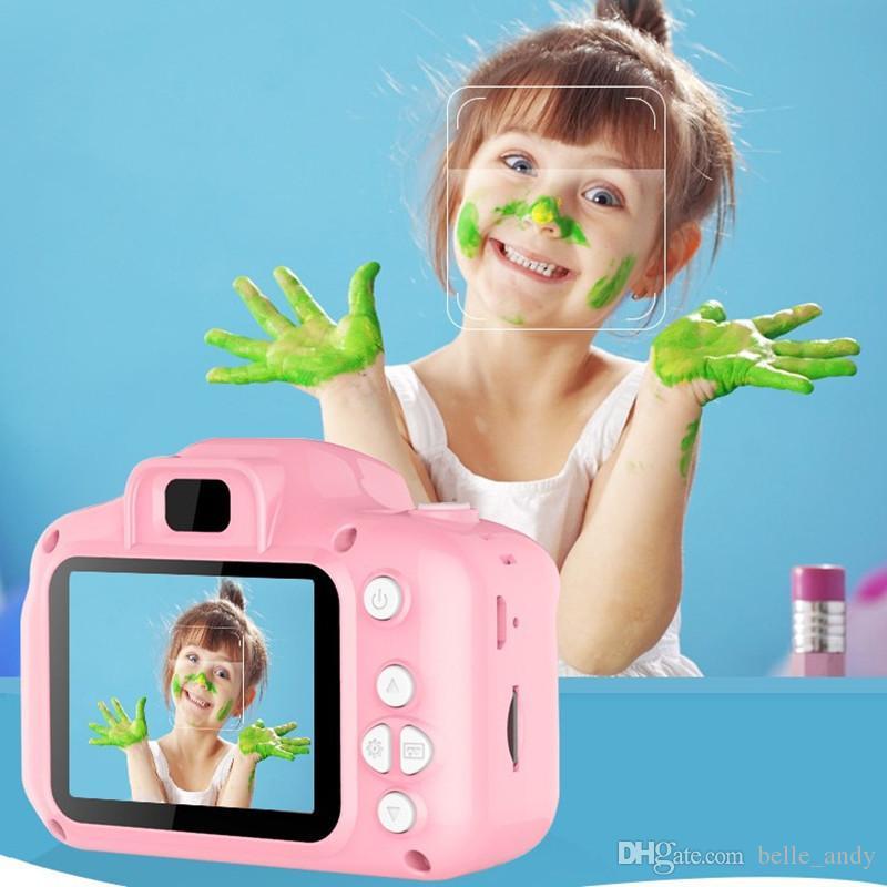 كاميرا الاطفال كاميرا رقمية صغيرة للأطفال لطيف الكرتون كاميرا 13MP كاميرا SLR لعب لهدية عيد ميلاد 2 بوصة كاميرا شاشة التقاط الصور DHL