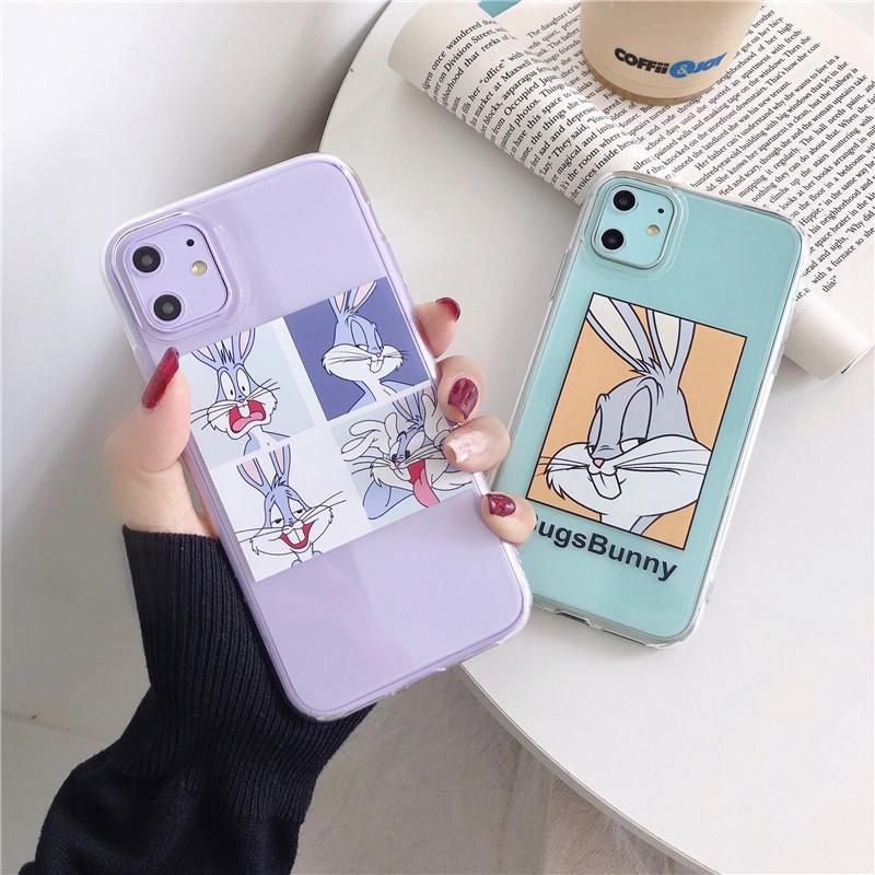 Cartoon Transparent Case For iphonePhone 11 11Pro Max For iphonePhone X XR XS Max 7 8 Plus Bugs Bunny Phone Case Cute Soft Back Cover