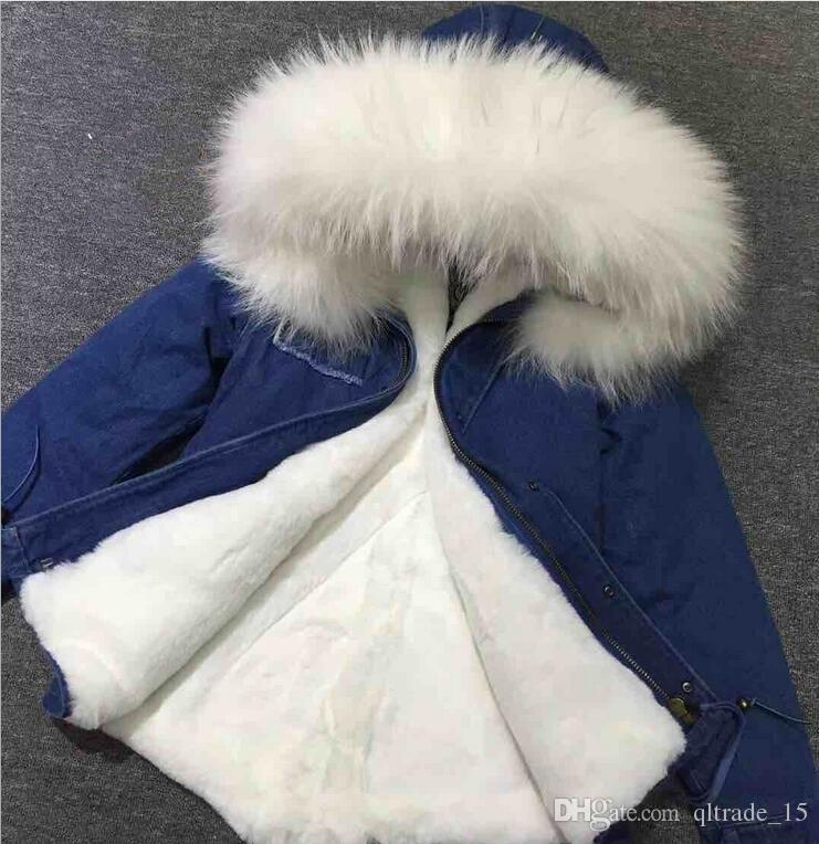 Blue Parka White Fur