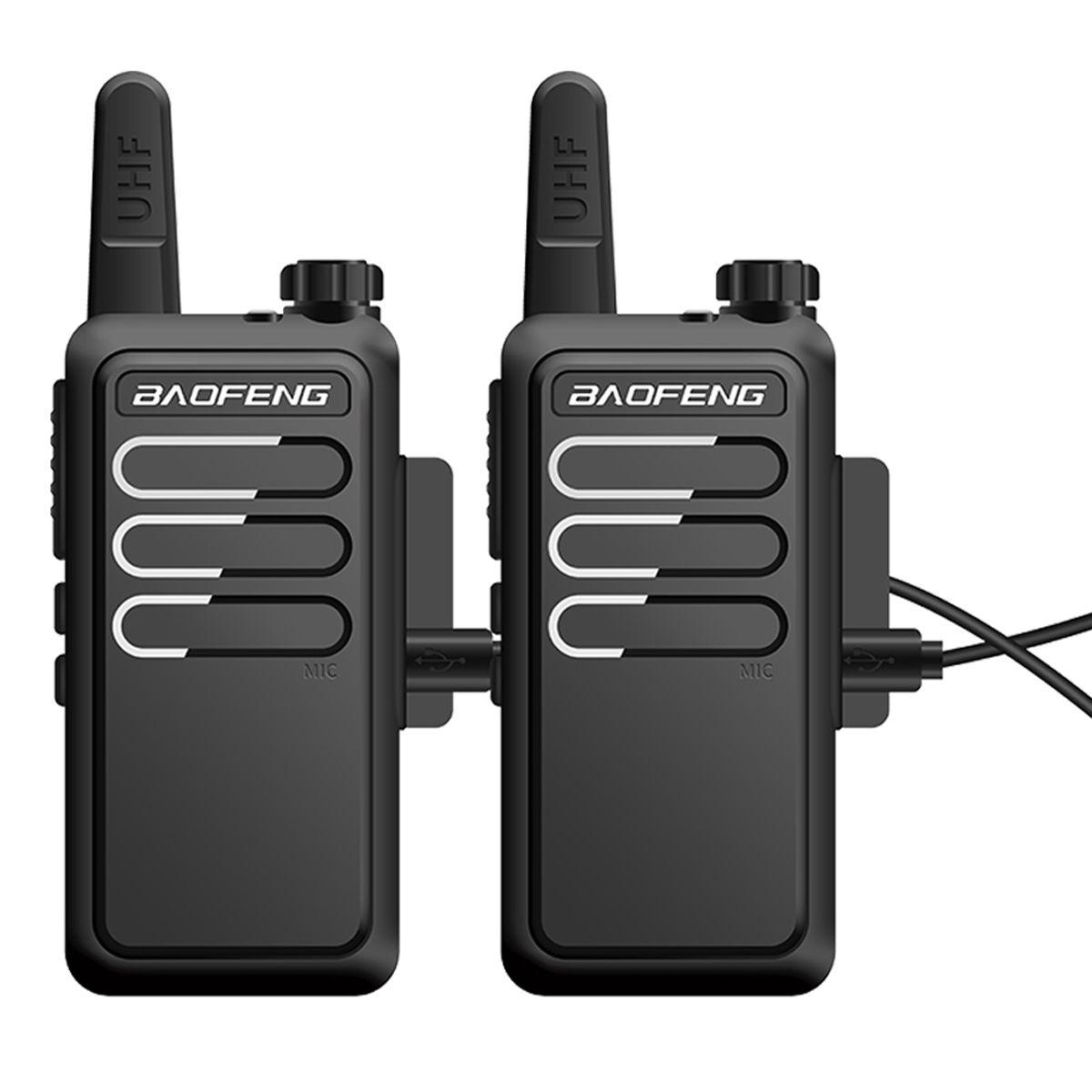 VOX 충전 양방향 라디오 방송국 핸디 무전기를 충전 2020 새로운 2 개 보풍 BF-C9 미니 무전기 야의 USB