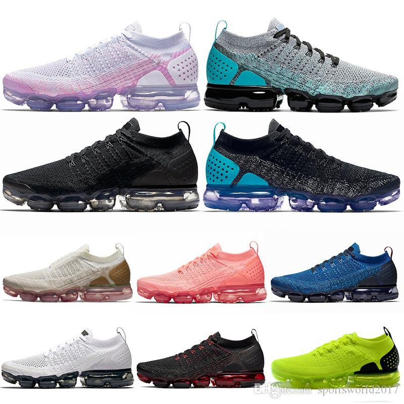 Nike Air Vapormax 2.0 Открытый Runnning Обувь CNY Олимпийский HOT PUNCH Тренажерный Зал Синий Свет Кремовый MOC Oreo Мужские Женщины Тренеры Спортивные Пятна Кроссовки 36-45 Оптовые Капли