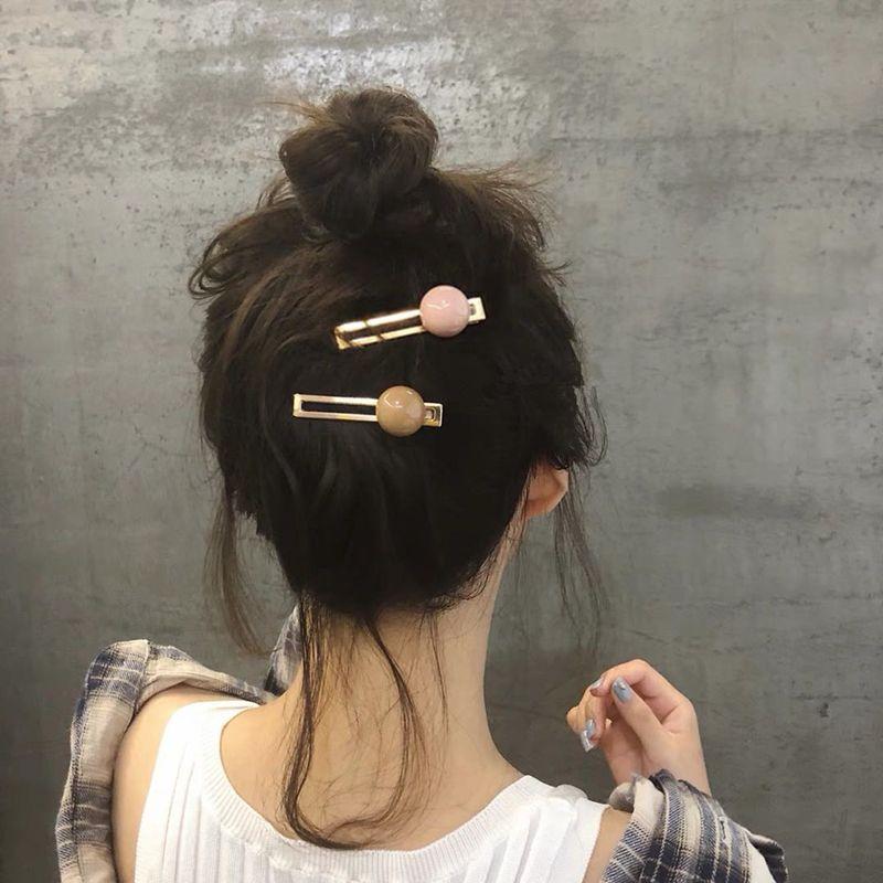 Acessórios de cabelo Helisopus Doce Cor Grampos para Clipe Mulheres Acrílico Cabelo Bola Coreia do estilo Hairgrip para 10pcs senhoras
